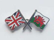 UNION JACK & WALES - FLAG FRIENDSHIP BADGE (T285)